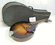 Vintage 1930's Kalamazoo Archtop A-Style Mandolin In Case