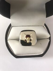 """New Men's Heavy Solid Stainless Steel """"Masonic Grotto"""" Ring"""