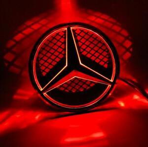 For Mercedes Benz Motor Front Star Grille Emblem Red light LED 06-13 Black