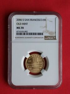 2006 S San Francisco Old Mint $5 GOLD NGC MS 70