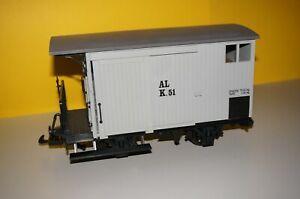 RFE] LGB Lehmann Gedeckter Güterwagen 94007 AL K.51 grau o. OVP sehr guter Zust.