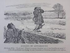 Scottish humour vieux écossais femme-à en juger par les apparences antique punch Cartoon