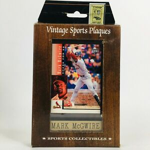 Vintage Sports Plaques Mark McGwire 1998 Upper Deck Chase for 62 #7 NIP NEW