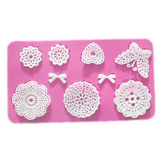 3D Flowers Butterfly Instant Silicone Lace Fondant Mold DIY Cake Decor Mould DIY