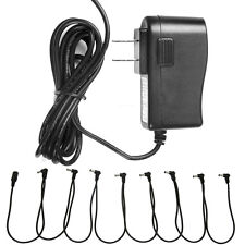 9V AC Adapter With 8 Way Daisy Chain Splitter Cord Cable fit Guitar Effect Pedal