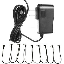 9V AC Adapter With 8 Way Daisy Chain Splitter Cord Cable fit Guitar Effect