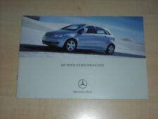 48671) Mercedes B-Klasse Prospekt 12/2004
