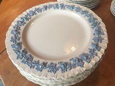 6 Wedgwood Queensware Lavender Blue On White  Shell Edge DINNER PLATES