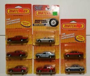 Matchbox Rover Sterling Jaguar Saab Mercedes Benz Vectra Rolls Vintage Lot of 8