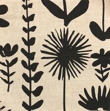 SCHUMACHER Vera Neumann Wild Things Black White Floral Cotton Linen Remnant New