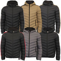 Mens Bubble Jacket Brave Soul Reflective Coat Hooded Quilted Padded HARROW New