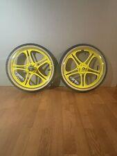 "GT / Hutch / HARO / Mongoose BMX Freestyle / 20"" Mag Wheel Set/ Freewheel / Nice"