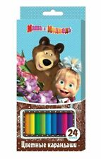 24 color pencils Masha and the Bear