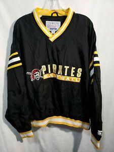Rare Vintage 80s Starter Pittsburgh Pirates Baseball Pullover Jacket Mens XL