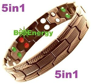 TITANIUM Magnetic Energy  Armband  Power Bracelet Health Bio 5in1 Bio GERMANIUM