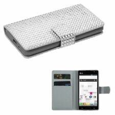 Silver Mobile Phone Wallet Cases for LG