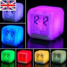 Fun Cute Paw Patrol 7 Color Changing Night Light Alarm Clock Kids Children Toy