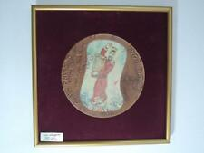 1991 King David by Marc Chagall 190mm Bronze Modelia w/frame 608/2450