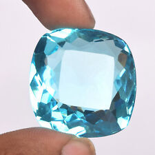 Cushion Swiss Blue Topaz 88.30 Ct. Faceted Cut Loose Gemstone For Pendant