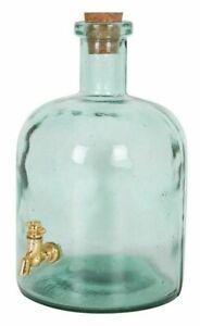MARTA Drinks Dispenser 2.5L bottle HANDMADE glass bottle wine liquor