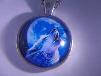 """Very! Very! Nice Howling Wolf pendant & 18"""" Necklace - """" NEW """""""