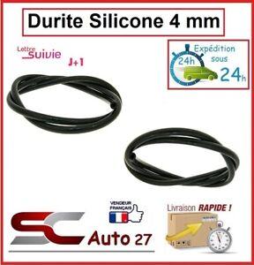 Durite de dépression noir en silicone 4 mm intérieur le mètre linéaire
