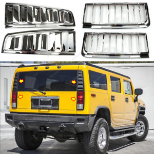 For 2003-2009 HUMMER H2 Rear Tail light vent cover+Rear headlight Cover Trim 2PC