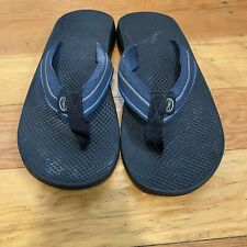 Chaco ~ Men's Green Nylon Slip On Thong Sandals Size 8 Vibram Sole