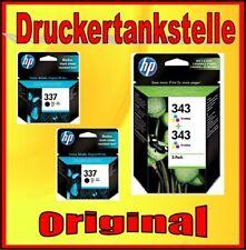 4 original HP nº 343 + 337 austeridad c9364 c8766 Deskjet 5940 6940 6980 nuevo
