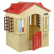 Tan Cape Cottage Playhouse Children Indoor Outdoor Portable Plastic Toy House