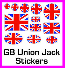British GB Union Jack Stickers Labels Circles Rectangles Ovals - 12 Sizes