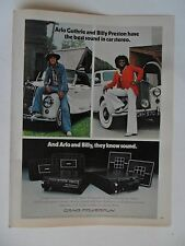 1976 Print Ad Craig Electronics Car Stereo ~ Arlo Guthrie and Billy Preston
