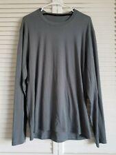 Lululemon Gray Long Sleeve Crewneck Pullover Tee Shirt Xl? #1638