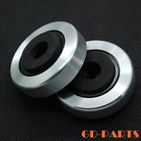 Silver Aluminum Plastic Isolation Feet Pad for CD PC Chassis Speaker AMP 45x15mm