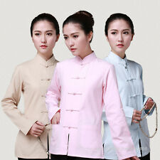 100% Cotton Chinese Traditional Women's Kung Fu Taichi Martial Arts shirt jacket
