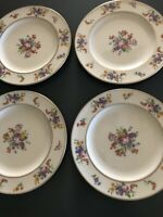 "💐Belleek Coxon 4 Salad Plates Apprx 8"" Beautiful Spring Flowers 💐"