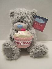 Douglas Stuffed Animal 7'' Plush TATTY TEDDY Birthday Bear With Pink Cupcake NEW