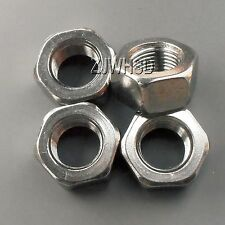4pcs M12 x 1 mm Pitch Stainless Steel Left Hand Fine Thread Hex Nut Metric