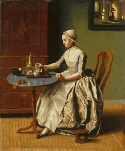 Jean Etienne Liotard A Lady pouring Chocolate Giclee Paper Print Poster