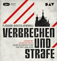 FJODOR M. DOSTOJEWSKIJ - VERBRECHEN UND STRAFE  3 MP3 CD NEW