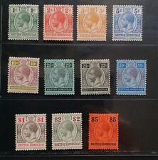 BRITISH HONDURAS 1913 KGV 1c to $5 SG 101 - 110 Sc 115 - 126 wmk MCCA set 10 MLH