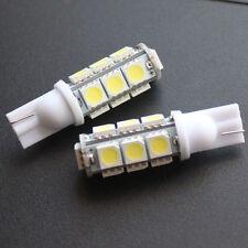 COPPIA 2 LAMPADINE 13 LED SMD 5050 T10 5W BIANCO CANBUS NO ERROR POSIZIONE TARGA