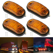 8X Amber Side Marker Light Rear LED Clearence Lamp Indicators Truck Trailer CA