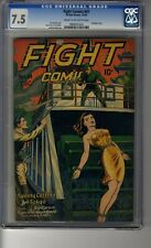 Fight Comics (1940) #41 - CGC 7.5 Cream/OW Pages - Matt Baker Art - Bondage Cvr