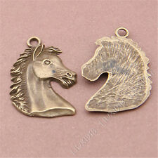 10pc Antique Bronze Horse Head Animal Pendants Charms Findings For necklace S278