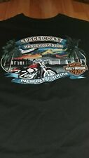 Harley Davidson T Shirt Black Palm Bay Florida xl