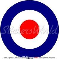 RAF Royal Air Force Type D Aircraft Roundel 100mm MOD Target Vinyl Sticker Decal