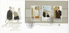 Gibraltar 2012 FDC Royal Visit Earl Countess Wessex 3v M/S Cover Diamond Jubilee