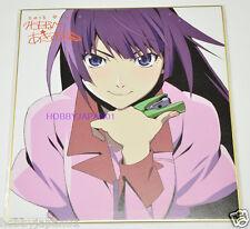 Bakemonogatari nisemonogatari Hitagi LIMITED Printed Autograph Board Shikishi