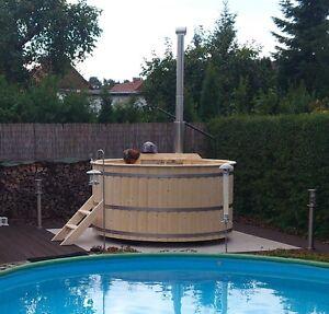 Badetonne Badezuber Badebottich Badewanne Hot Tub DM 2,0 M ALU Innenofen
